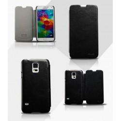 Husa protectie din piele ecologica pentru Samsung Galaxy S5 G900, neagra